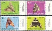 Papua New Guinea  /  PNG 1998 Moths  / Nature/  Insects 4v set (n18134)