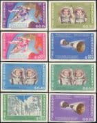 Paraguay 1966 Rockets/ Space Walk/ Astronauts/ Moon/ Science IMPERFOTATE 8v set (b4409)