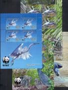 Penrhyn Isl;and  2008  WWF/ Pacific Reef Egret/ Birds/ Nature/ Conservation 4 x 4v shtlts (b6548k)