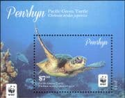 Penryhn 2014  WWF/ Turtles/ Coral/ Marine/ Wildlife/ Animals/ Nature/ Conservation   1v m/s (b209a)
