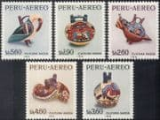 Peru 1967 Nazca Culture/ Pottery/ Craft/ Art/ Birds/ History/ Heritage 5v set (n43972)
