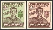 Philippines 1948 Scouts 25th Anniversary/ Scouting/ Youth/ Leisure/ People 2v set imperforate (n28743)