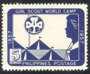 Philippines 1957 Girl Guides  /  Scouts  /  Camp  /  Youth  /  Leisure 1v (n33790)