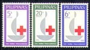 Philippines 1963 Red Cross Centenary/ 100th/ Medical/ Health/ Welfare/ Candle 3v set (n29004)