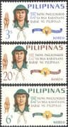 Philippines 1966 Philippines Girl Guides 25th Anniversary/ Guiding/ Scouts/ Scouting/ Youth/ Leisure 3v set (n33792)