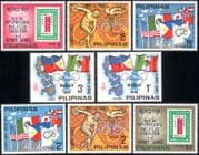 Philippines 1968 Olympic Games/ Olympics/ Flags/ StampEx  8v set UNISSUED (n43505a)