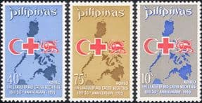 Philippines 1969 League of Red Cross Societies/ Medical/ Health/Welfare 3v set (n29840a)