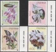 Philippines 2003 Orchids/ Flowers/ Plants/ Nature/ Conservation/ Environment 4v set (n44499)
