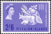 Pitcairn 1963 FAO/ FFH/ Freedom From Hunger/ Cattle/ Chicken/ Fish/ Food 1v (n18589)