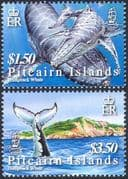 Pitcairn Islands 2006 Humpback Whales/ Animals/ Marine/ Nature/ Conservation/ Environment 2v set (n16808)