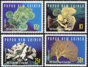 PNG/Papua New Guinea 1997 Coral/ Marine/ Sea Life/ Reef/ Animals/ Nature/ Conservation 4v set s3146