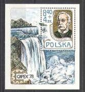 Poland 1978 Capex  /  Waterfall  /  River  /  Water 1v m  /  s (n24100)