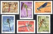 Poland 1988 Dragonflies  /  Dragonfly  /  Insects  /  Nature 6v set (b6857)