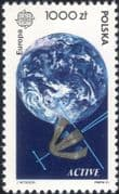 Poland 1991 Europa/ Europe in Space/ Satellite/ Globe/ Communications/ Rockets 1v (ex1040)