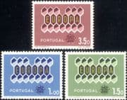 Portugal 1962 Europa/ Honeycomb/ Animation/ Design 3v set (ex1051)