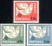 Portugal 1963 Europa/ Dove/ Jigsaw/ Animation/ Design/ Birds 3v set (ex1050)