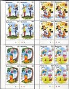 Redonda 1985  Disney/ Mark Twain/ Stories/ Pooh/ Mickey/ Goofy/ Cartoons 4v set c/b (b6301za)