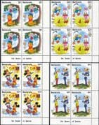 Redonda 1985  Disney/ MarkTwain/ Stories/ Pooh/ Mickey/ Goofy/ Cartoons  4v set c/b  (b6301zb)