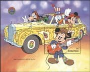Redonda 1990 Disney/ Christmas/ Greeting/ Cars/ Mickey/ Cartoons/ Transport 1v m/s (d00161a)