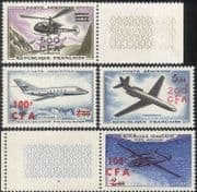Reunion 1961 Planes/ Helicopter/ Aviation/ Aircraft/ Transport /Flight 4v set surcharge (n44277)