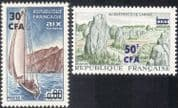 Reunion 1965 Yacht/ Sailing/ Boats/ Sport/ Standing Stones/ Monuments/ Tourism/ History 2v set surcharge (n44271)