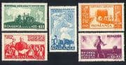 Romania 1946 Farming  /  Tractor  /  Cattle  /  Ploughing  /  Crops  /  Transport 5v set (n32534)