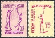 Romania 1955 European Volleyball Championships/ Sports/ Games 2v set (n41950)