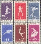 Romania 1960 Olympic Games/ Olympics/ Football/ Diving/ Boxing/ Sport 6v set (n43957)