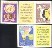 Romania 1961 UN 15th Anniversary/ Dove/ Birds/ Nature/ Map/ People/ Animation 3v set imperf (n44568)