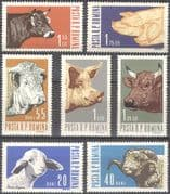 Romania 1962 Farm Animals/ Cattle/ Pigs/ Sheep/ Farming/ Nature 7v set (n42109)