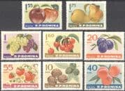 Romania 1963 Apples/ Grapes/ Pears/ Plums/ Walnuts/ Fruit/ Crops/ Food 8v set (n42111)