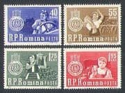 Romania 1963 FAO  /  Food  /  Hunger  /  Cattle  /  Tractor  /  Grapes  /  Wheat 4v set (n32528)
