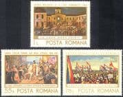 Romania 1968 Buildings/ Horses/ Politics/ Military/ History/ Heritage 3v set (n42120)