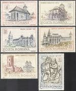 Romania 1968 Palace/ Castle/ Monastery/ Church/ Tower/ Clock/ Buildings/ Architecture/ Heritage/ History 6v set (n42077)
