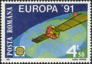 Romania 1991 Europa/ Europe in Space/ Satellite/ EUTELSAT 1/ Globe/ Communications 1v (ex1041)