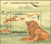 Romania 2000 Lions/ Wild Cats/ Animals/ Nature/ Wildlife/ Conservation 1v m/s (b5064a)