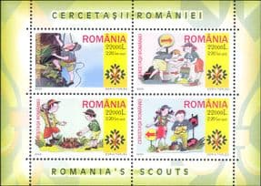 Romania 2005 Scouts/ Scouting/ Guides/ Camp Fire/ Rock Climbing/ Orienteering Map  4v m/s (n18323)