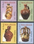 Romania 2006 Romanian Pottery/ Ceramics/ Art/ Craft/ Jugs 4v set (n16425c)