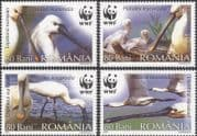Romania 2006 WWF/ Eurasian Spoonbill/ Endangered Birds/ Nature/ Conservation 4v set (n16427)