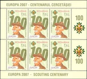 Romania 2007  Europa/ Scouts/Scouting/ Baden-Powell  6v m/s  LIMITED ISSUE  (b3485r)