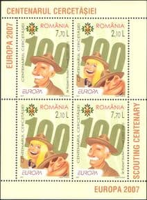 Romania 2007  Europa/ Scouts/Scouting/ Baden-Powell/ Guides/ Youth  4v m/s  (b3485q)