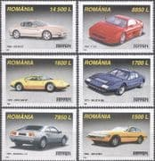 Romania 2007 Ferrari/ Sports Cars/ Motoring/ Motor Racing/ Transport 6v set (s5044j)