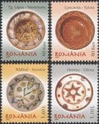Romania 2007 Romanian Pottery/ Ceramics/ Art/ Craft/ Plates 4v set (n16425f)