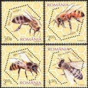 Romania 2010 Honey Bees/ Insects/ Nature/ Conservation /Environment 4v set (n44617)