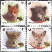 Romania 2012 Bear/ Fox/ Wolf/ Deer/ Fawn/ Young Animals/ Nature/ Wildlife 4v set (n46118)