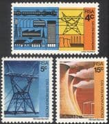 RSA 1973 Power Station/ Energy/ Electricity/ Trains/ Bus/ Transport/ Power/ Industry 3v set n43293