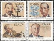 RSA 1991 Scientists/ Science/ People/ Microscope/ Weather/ Geology 4v set (n23358)