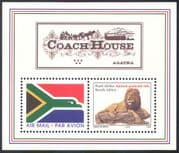 RSA 1997 Airmail Flag/ Lion/ Wild Cats/ Coach House/ Flag/ Animals/ Horse/ Transport 2v m/s (s3867)