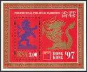RSA 1997 Lion/ Dragon/ Wild Cats/ Hong Kong/ StampEx/ Animation 1v m/s (s2642)