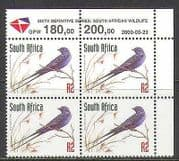 RSA 1998 Blue Swallow  /  Birds  /  Nature  /  Wildlife rdrw 2000 rpnt 1v c  /  b (za10073)